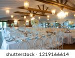 a fully decorated white and...   Shutterstock . vector #1219166614
