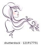 vector illustration of woman... | Shutterstock .eps vector #121917751