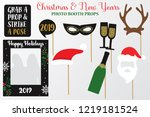 merry christmas and new year... | Shutterstock .eps vector #1219181524