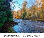 autumn forest river landscape....   Shutterstock . vector #1219197514