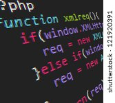 page with php code. vector... | Shutterstock .eps vector #121920391