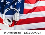 american national flag and... | Shutterstock . vector #1219209724
