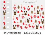 how many counting game with... | Shutterstock .eps vector #1219221571
