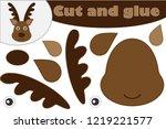 christmas deer cartoon style ... | Shutterstock .eps vector #1219221577