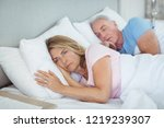 senior couple relaxing on bed... | Shutterstock . vector #1219239307