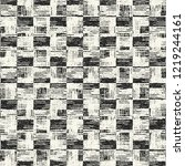 monochrome checked grain stroke ... | Shutterstock .eps vector #1219244161
