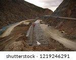 gabion wall installation works... | Shutterstock . vector #1219246291