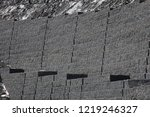 gabion wall installation works... | Shutterstock . vector #1219246327