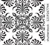 lace pattern geometric vector | Shutterstock .eps vector #1219267744