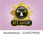gold emblem with snatch ... | Shutterstock .eps vector #1219279354