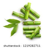 Branches Of Bamboo Isolated On...