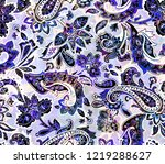 traditional paisley pattern | Shutterstock . vector #1219288627