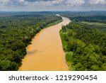 aerial drone view of a long ...   Shutterstock . vector #1219290454