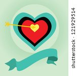 love arrow and target. | Shutterstock .eps vector #121929514