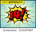 happy birthday postcard  in a... | Shutterstock .eps vector #1219297807