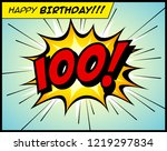 happy birthday postcard  in a... | Shutterstock .eps vector #1219297834