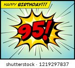 happy birthday postcard  in a... | Shutterstock .eps vector #1219297837