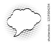 cartoon  comic speech bubbles ... | Shutterstock .eps vector #1219304254