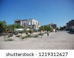 houses destroyed during the war ... | Shutterstock . vector #1219312627