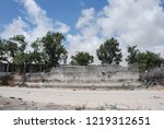 houses destroyed during the war ... | Shutterstock . vector #1219312651