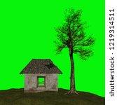 abandoned house  3d illustration | Shutterstock . vector #1219314511
