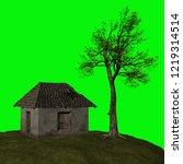abandoned house  3d illustration | Shutterstock . vector #1219314514