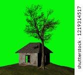 abandoned house  3d illustration | Shutterstock . vector #1219314517