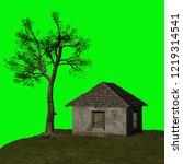 abandoned house  3d illustration | Shutterstock . vector #1219314541
