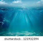 abstract sea and ocean... | Shutterstock . vector #121932394