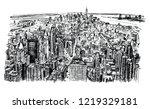 new york skyline panorama | Shutterstock .eps vector #1219329181