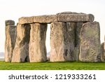 stonehenge close up view in... | Shutterstock . vector #1219333261