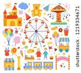 amusement park cute...   Shutterstock .eps vector #1219334671
