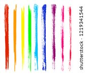 vector set of colorful brush... | Shutterstock .eps vector #1219341544