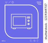 microwave oven linear icon.... | Shutterstock .eps vector #1219349737