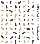 seamless pattern with confetti... | Shutterstock .eps vector #1219365301