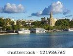 golden tower  torre del oro ...   Shutterstock . vector #121936765