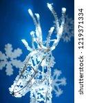 glowing lights of garlands in...   Shutterstock . vector #1219371334