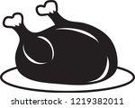 vector illustration of a turkey ... | Shutterstock .eps vector #1219382011