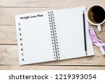 weight loss program written on... | Shutterstock . vector #1219393054