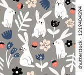 seamless childish pattern with... | Shutterstock .eps vector #1219404394
