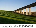bridge  modern transport and...   Shutterstock . vector #1219404631