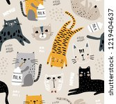 seamless pattern with different ... | Shutterstock .eps vector #1219404637