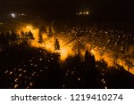 aerial night view of all saints'... | Shutterstock . vector #1219410274