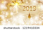 2019 new year shining banner... | Shutterstock .eps vector #1219410334