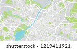urban vector city map of angers ... | Shutterstock .eps vector #1219411921