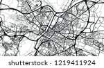 urban vector city map of angers ... | Shutterstock .eps vector #1219411924