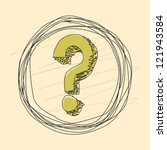 line drawing question mark | Shutterstock .eps vector #121943584