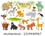 african animals collection...   Shutterstock .eps vector #1219440967