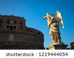 rome  statue of an angel on the ...   Shutterstock . vector #1219444054