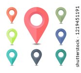 collection of map pointers  ... | Shutterstock .eps vector #1219451191